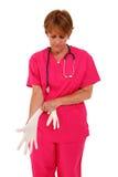 stosować rękawiczek pielęgniarki gumę Zdjęcia Stock