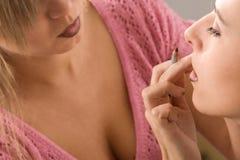 stosować artysty kosmetyków makeup Obrazy Royalty Free
