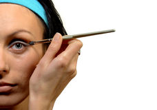 stosować oka twarzy przyrodniej cienia kobiety Zdjęcie Stock