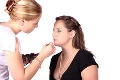 stosowanie makijaż zdjęcia royalty free