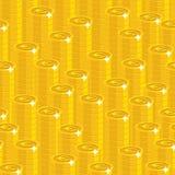 Stosu euro złocistego stylu bezszwowy wzór Zdjęcia Royalty Free
