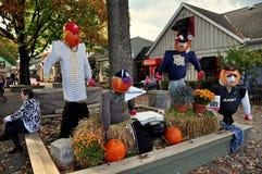 Stosunek, PA: Jesień pokaz przy Kuchenną czajnik wioską Zdjęcia Stock