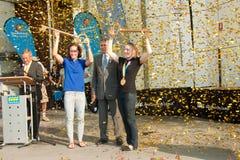 Stosur e Pearson recebem chaves à cidade. Fotos de Stock Royalty Free