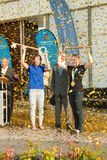 Stosur and Pearson receives keys to the city. Stock Photography