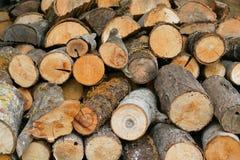 stosy drewna Zdjęcie Stock