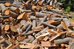 stosy drewna Obrazy Stock