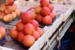 Stosy jabłka obraz stock