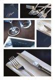 Stołu menu i set Obrazy Stock