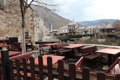 Stoun città di tum del ¡ del baÅ di verde di Mostar una vecchia Immagini Stock Libere da Diritti
