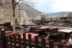 Stoun a Mostar green  bašta old town Royalty Free Stock Images