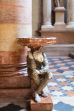 Stoup by Paolo Orefice in chiesa Sant Anastasia Royalty Free Stock Photography
