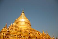 Stoupa de oro en Rangún, Birmania Fotografía de archivo