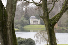 Stourhead庭院万神殿 免版税图库摄影