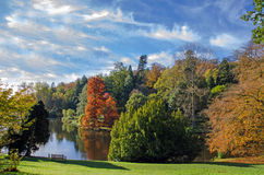 Stourhead, Engeland, in de herfst Stock Foto's