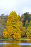 Stourhead Garden - Lake and Autumn Colours, Wiltshire Stock Photo