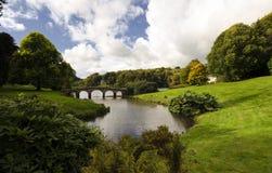 Stourhead Gardens. Bridge at Stourhead in Wiltshire Royalty Free Stock Image