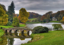 Stourhead National Trust. Park in autumn Stock Photos