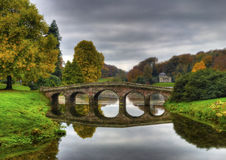 Stourhead National Trust. Park in autumn Royalty Free Stock Photography