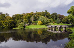 Stourhead ogródy Zdjęcie Royalty Free