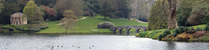 Stourhead Panorama Stock Image