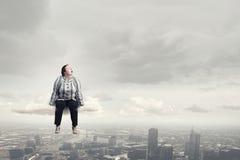 Stout woman. Concept image Stock Photos