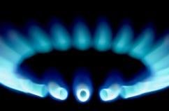 Stove 1. Macro shots of some stove burners in the dark Stock Image