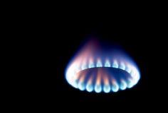Stove 4. Macro shots of some stove burners in the dark Stock Image