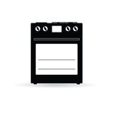 Stove black icon vector illustration Stock Photos
