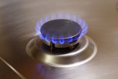 Stove blue flame gas hob Stock Images