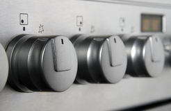 Stove buttons Stock Photo