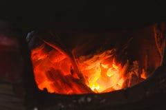 Stove charcoal hot royalty free stock image