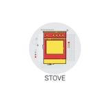 Stove Cooking Utensils Kitchen Equipment Appliances Icon Stock Photo