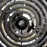 Stove Element. Closeup of used stove element with aluminum basket royalty free stock photo