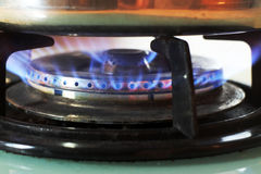 Stove fire Royalty Free Stock Photography