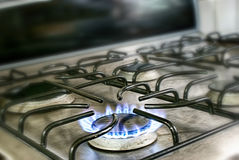 Stove fire flame Royalty Free Stock Photography
