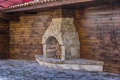 Stove fireplace, outdoor Stock Images