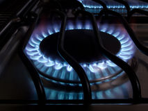 Stove flames 1 Stock Photography