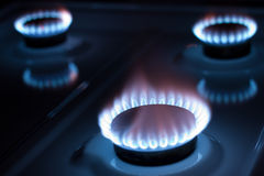 Stove gas. Blaze - ready to cook royalty free stock photo