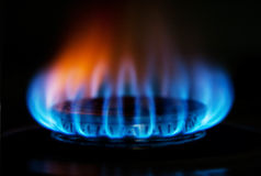 Stove gas fire flame Stock Photography