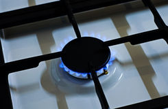 Stove gas fire flame Royalty Free Stock Images