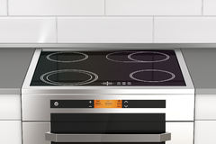 Stove with induction cooktop Stock Photography