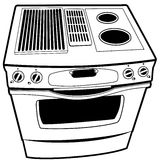 Stove Line Art Stock Photo