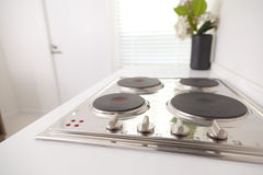 Stove in modern pantry Royalty Free Stock Images