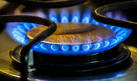 Stove Natural Gas Burners Royalty Free Stock Photos