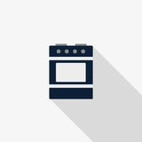 Stove with oven vector icon. Color illustration stove with oven vector icon Stock Photos
