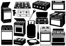 Stove Set Stock Photos