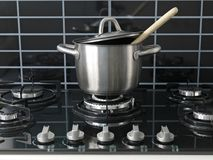 Stove Top Cooking Royalty Free Stock Images