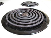 Stove top cooking element Stock Images