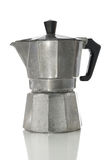 Stove top espresso maker with clipping path Stock Images