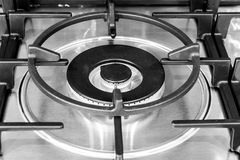 Stove turbo burner. Stove turbo burner closeup, Ñ'he details are clearly visible royalty free stock image